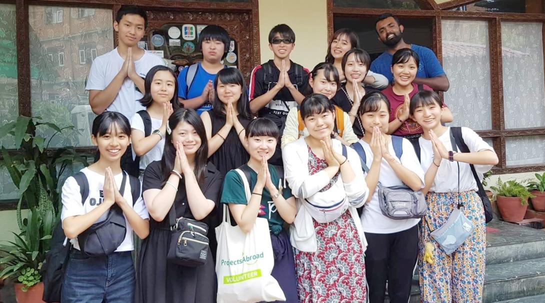 日本から団体で参加したボランティアグループ
